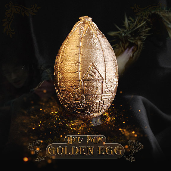 Golden Egg 3D Printable Model - Harry Potter