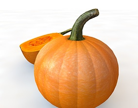 3D model Pumpkin Orange