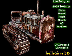 3D model game-ready Industrial Heavy Vehicle - Textured