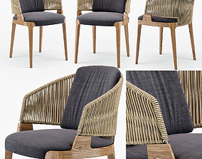 Potocco Velis hand weaved armchair 3D model