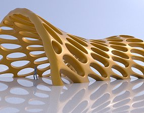 3D Canopy structure smooth perforations architectural