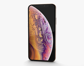Apple iPhone XS Gold 3D model