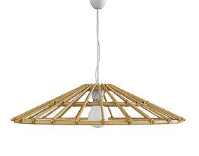 3D model Vintage lampshade in natural rattan