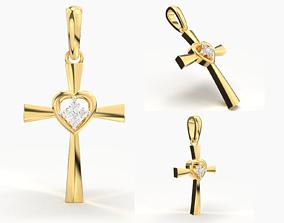 3D printable model JESUS CROSS DIAMOND PENDANT jewelry
