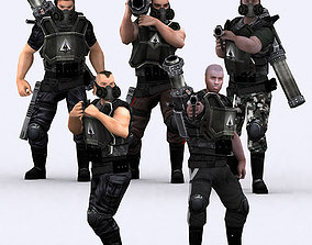 animated VR / AR ready 3DRT - Heavy Troopers