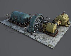Diesel generator 3D model low-poly