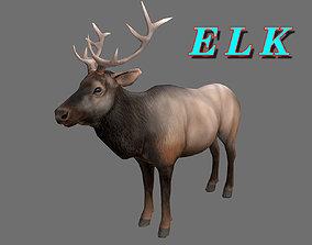 low-poly ELK 3D MODEL