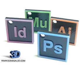 3D printable model Adobe Creative Cloud Icons