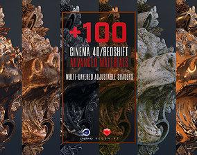 3D model 100 C4D Redshift Advanced Materials