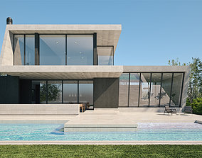 Exterior House Scene 3 - Marble House 3D