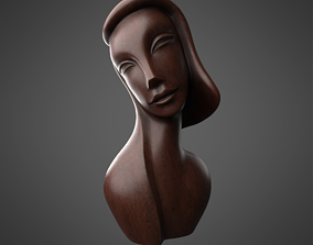3D African Wood Statue