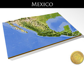 Mexico High resolution 3D relief maps