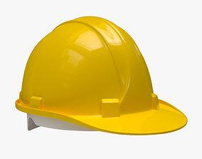 Worker Safety Helmet - Yellow Hard Hat 3D model