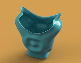 King coat vase cup vessel holder v307 for 3d-print or cnc