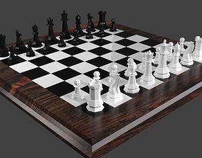 Classic Chess Set 3D model VR / AR ready