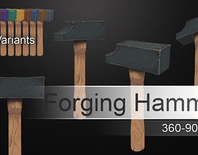 3D asset realtime Forging Hammer