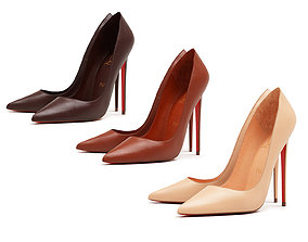 Christian Louboutin So Kate 120mm Nude Shade High 3D model