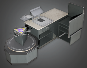 SAM - Commercial Checkout Counter - PBR Game 3D model
