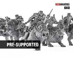 3D printable model Ice Warriors - Riders of the Imperial