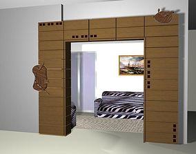 3D asset Living Room passage