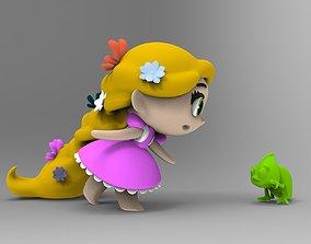 Princesas Rapunzel y Pascal Coleccion 3D print model