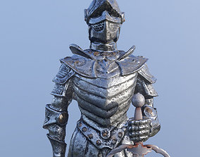 Knight 3D model low-poly