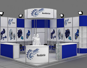 Exhibition Stand - ST0053 3D model