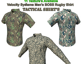 3D asset Velocity Systems Mens BOSS Rugby Tactical Shirt