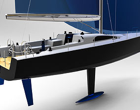 marina Sailing Yacht 3D printable model