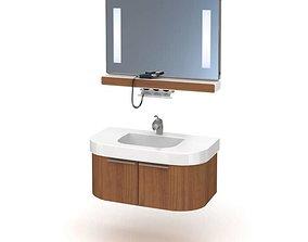 Bathroom Furniture Made Of Wood 3D model