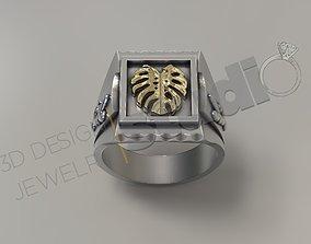 Luxury design feather ring 3d design