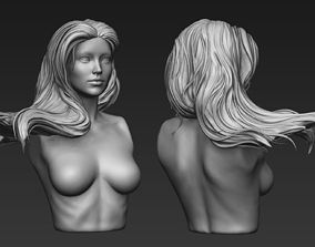 3D Zbrush Hair Sculpt 05