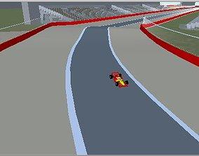3D model VR / AR ready Race Track