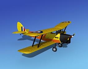 3D model Dehavilland DH82 Tiger Moth V14