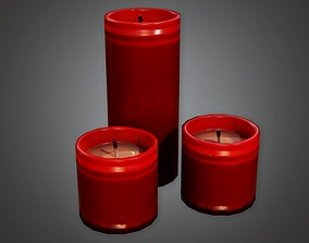 3D model Cemetery Candles 3 CEM - PBR Game Ready