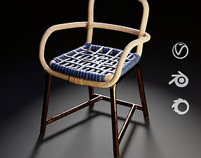 Baxter Manila Chair Blue 3D model