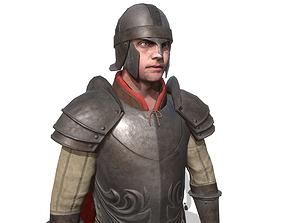 3D model rigged Guard