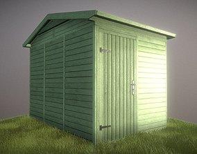 Green Garden Shed 3D model