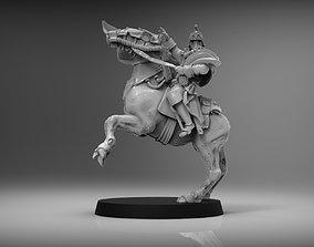 SciFi Napoleon on Horse - 28mm miniature 3D print model