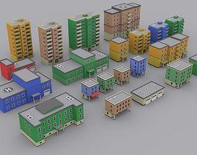 3D asset Pack houses 1