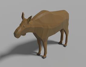 Cartoon Moose 3D model