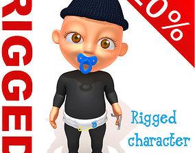 3D Thief baby Cartoon Rigged