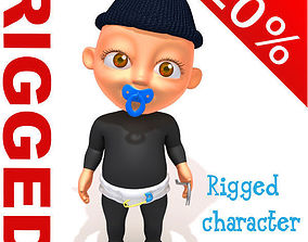 3D Thief baby Cartoon Rigged