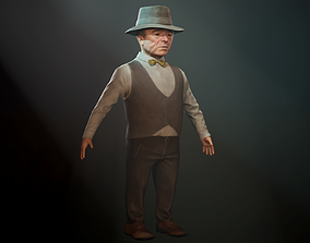 3D asset realtime Small man mr Anderson - Dwarf
