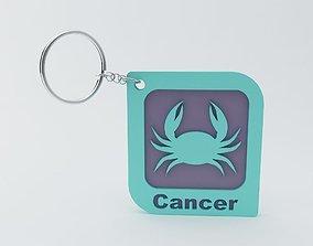 Cancer Zodiac keychain Model