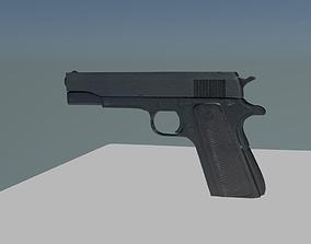 Realistic Handgun 3D asset