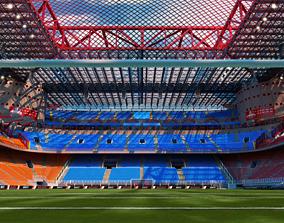 soccer-stadium 3D model San Siro