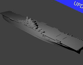 US Essex Class Aircraft Carrier 3D print model