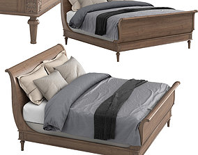 EMPIRE ROSETTE SLEIGH BED WITH FOOTBOARD 3D model