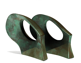 3D model Henry Moore - Double Oval